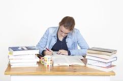 Student writes Stock Photos