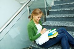 Student writing Royalty Free Stock Photography