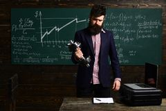 Student writing composition for annual exams preparation. Personal. business. Modern teacher hipster writing on big royalty free stock photo