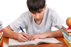 Student writing Stock Photography
