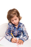 Student writting Stock Image