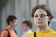 Student in yellow shirt Stock Photo