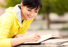 Student young woman with notebook Royalty Free Stock Photos