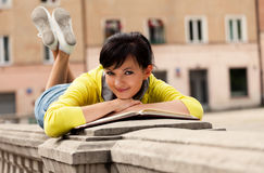 Student young woman with notebook Stock Image