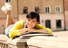 Student young woman with notebook Royalty Free Stock Photography