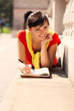 Student young woman with notebook Royalty Free Stock Photo