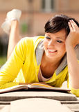 Student young woman with notebook Stock Images