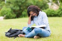Studenta uniwersytetu studiowanie Obrazy Stock
