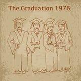Studentavläggande av examenberöm Arkivfoton