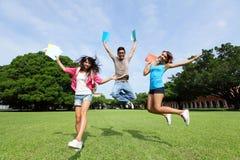 Studentdiversiteit op universitaire campus Royalty-vrije Stock Afbeeldingen