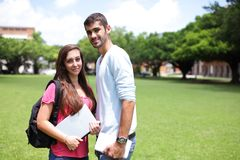 Studentdiversiteit op universitaire campus Royalty-vrije Stock Foto