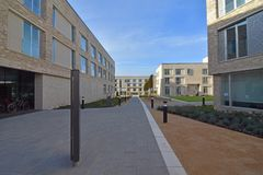 Studente Accomodation Eddington North Cambridge ad ovest Fotografia Stock Libera da Diritti