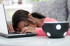 Studente addormentato Fotografie Stock