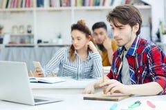 Studente alla lezione Immagini Stock