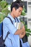 Studente Alone del ragazzo fotografia stock
