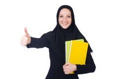 Studente arabo con i libri Fotografia Stock