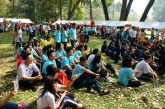 Studente asiatico della High School, attività, campo Immagine Stock Libera da Diritti