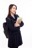 Studente asiatico giovane di pensiero Immagini Stock