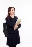 Studente asiatico giovane di pensiero Immagine Stock
