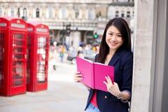 Studente cinese a Londra Immagine Stock Libera da Diritti