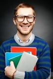 Studente con i libri Immagine Stock