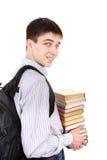 Studente con i libri Fotografie Stock Libere da Diritti