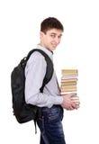 Studente con i libri Immagini Stock Libere da Diritti