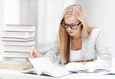 Studente con i libri e le note Immagini Stock Libere da Diritti