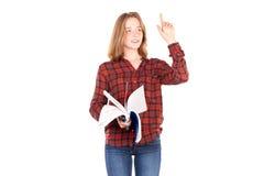 Studente con i taccuini Fotografia Stock