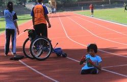 Studente con le inabilità Fotografia Stock Libera da Diritti