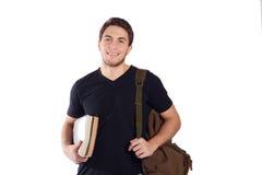 Studente con lo zaino ed il taccuino Fotografia Stock
