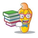Studente con stile del fumetto della mascotte dell'anacardio del libro Fotografie Stock Libere da Diritti