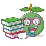 Studente con stile del fumetto della mascotte della guaiava del libro Fotografia Stock Libera da Diritti