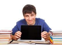 Studente con una compressa Fotografia Stock Libera da Diritti