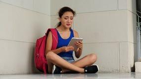 Studente confuso Young Female Fotografia Stock
