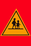 Studente d'avvertimento Sign Fotografia Stock Libera da Diritti