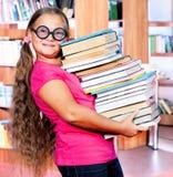 Studente del banco in occhiali di protezione fotografie stock