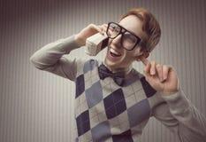 Studente del nerd fotografia stock