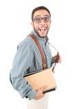Studente del nerd immagini stock libere da diritti