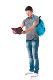 Studente del ragazzo con il blocco note Fotografia Stock