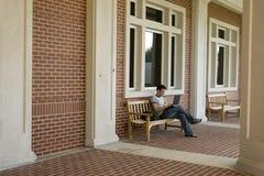 Studente di college fotografia stock libera da diritti