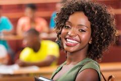Studente di college abbastanza africano Immagini Stock