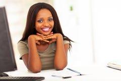 Studente di college africano Immagini Stock