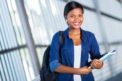 Studente di college africano Fotografie Stock Libere da Diritti