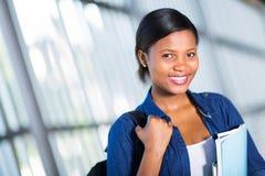 Studente di college africano Immagine Stock