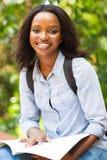 Studente di college africano all'aperto Immagine Stock Libera da Diritti