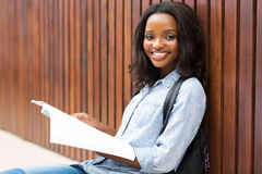 Studente di college africano femminile Fotografie Stock
