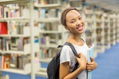 Studente di college africano femminile Fotografia Stock