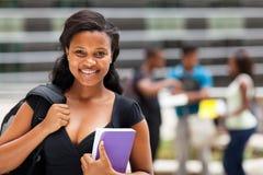 Studente di college afroamericano Fotografie Stock