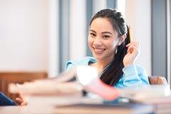 Studente di college asiatico Immagini Stock Libere da Diritti